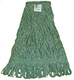 Zephyr 26334 Blendup Green Blended Natural and Synthetic Fibers X-Large Loop Mop Head with 1-1/4'' Narrow Headbands (Pack of 12)