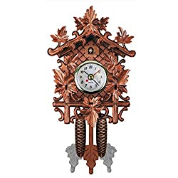 Gentman Vintage Wall Clock Cuckoo Clock Retro Wooden Wall Clock Living Room Wall Art Home Kitchen Décor Restaurant Cafe Hotel Decoration