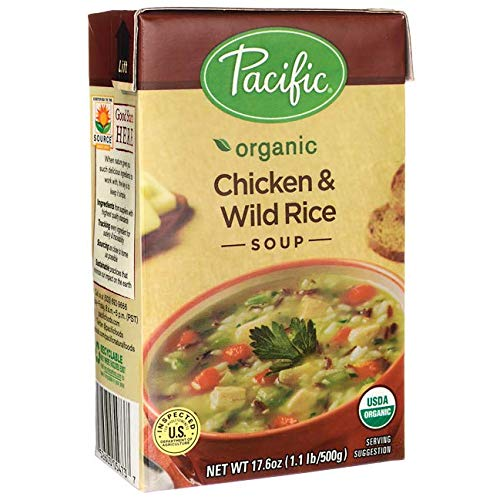 Pacific Foods Organic Chicken with Wild Rice Soup, 17.6-Ounce Carton (Best Chicken And Wild Rice Soup)