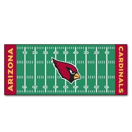 FANMATS NFL Arizona Cardinals Nylon Face Football Field (Field Runner)