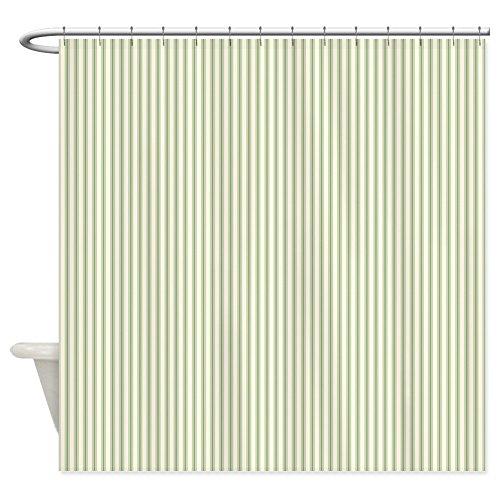 Green Striped Shower Curtain - CafePress Green Ticking Decorative Fabric Shower Curtain (69
