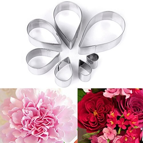 OKUBOX BT02 7pcs/set Stainless Steel Rose Petal Cake Cookie Cutter...
