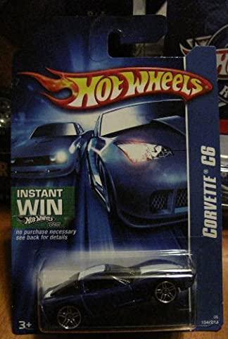 Hot Wheels 2006-154 Corvette C6 BLUE PR5 (C6 Corvette Toy)