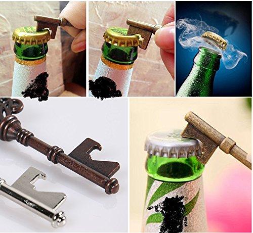 Key Bottle Openers - Assorted Vintage Skeleton Keys, Wedding Party Favors (Pack of 25, Black) by XONOR (Image #2)