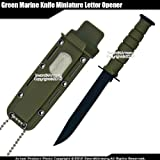 Etrading Classic Marine Combat Knife Replica Letter Opener Size Dagger with Name Plate GN