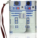 iPhone SE Case Wallet, DURARMOR® Star Wars Astromech Droid R2D2 Robot Premium PU Leather Wallet Case with ID Credit Card Cash Slots Flip Stand Wrist Strap Carrying Case for iPhone SE (2016)/5s/5
