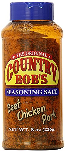 The Original Country Bob`s Seasoning Salt Beef, Chicken, Pork (1-Shaker Bottle) (NET WT 8 OZ)