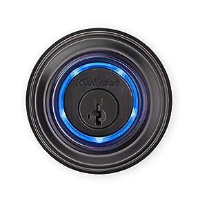 12. Kwikset Kevo (2nd Gen) Touch-to-Open Bluetooth Smart Lock, Works with Amazon Alexa via Kevo Plus, in Venetian Bronze