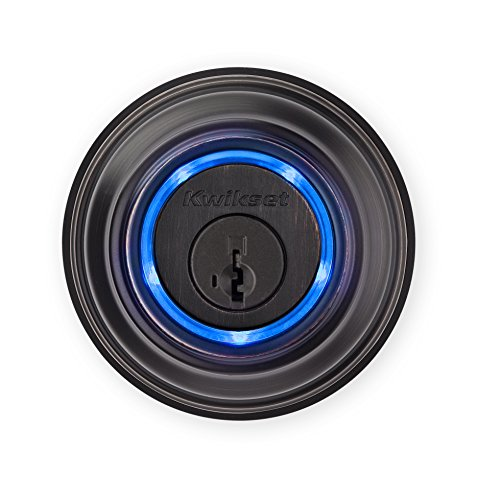 12. Kwikset Kevo (2nd Gen) Touch-to-Open Bluetooth Smart Lock, Works with Amazon Alexa via Kevo Plus, in Venetian Bronze