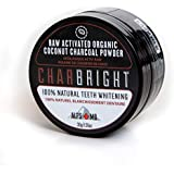 CHARBRIGHT Organic Activated Charcoal Teeth Whitening Powder With Coconut By ALPS MD   100% Food-Grade Raw Charcoal For Better Oral & Dental Hygiene   Strengthen Your Teeth & Gums [Flavorless]