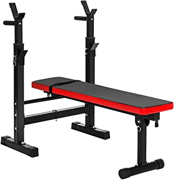 Height-adjustable Weight Bench Utility Barbell Lifting Press Exercise Workout Bench for Home Strength Training Multi-Function Folding Flat Incline Decline Bench Sit Up Abs Benchs