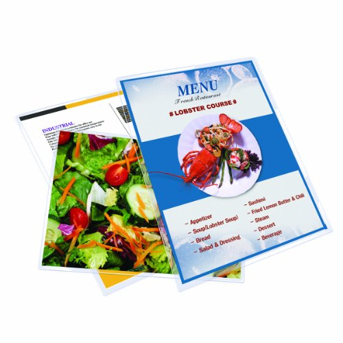 Royal Sovereign, 3 Mil, Menu Size 18 x 12 x 0.5 inches, Thermal Laminating Pouches, Clear Gloss, 50 Pouches (RF03MENU0050)
