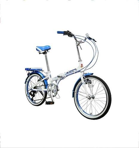 Bicicleta plegable de aleación de aluminio de 20 pulgadas, 7 velocidades, bicicleta de ciudad, bicicleta de estudiante, azul y naranja, bicicleta BXM, color naranja, tamaño 51 cm: Amazon.es: Deportes y aire libre