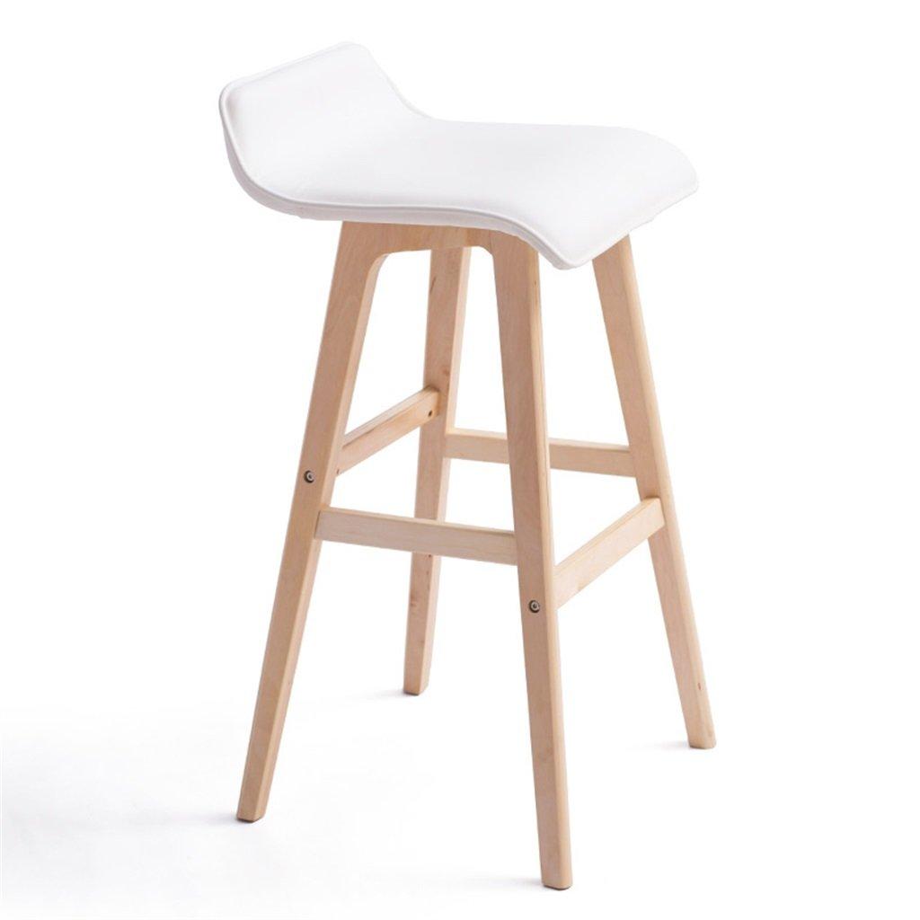キッチンホーム&コマーシャルホワイトのための木製の椅子ハイスツール朝食スツールバースツール ( サイズ さいず : Sit Height 74cm ) B07524PWRTSit Height 74cm