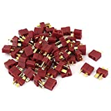 DealMux RC Lipo Battery ESC Helicopter Spring Clip Male Female T Connectors 30 Pairs
