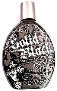 SOLID BLACK 100X Bronzer Indoor & Outdoor Dark Tanning Bed Lotion By Millennium 400ml (13.5 oz)