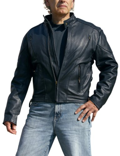 Vented Touring Jacket (Interstate Leather Men's Touring Jacket (Black, XXXXX-Large))