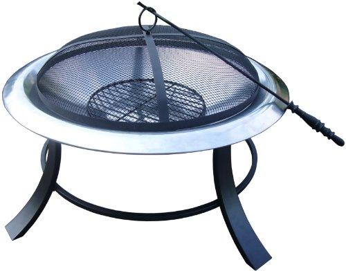 El Fuego® Feuerstelle Columbia, Silber, 74x50x74 cm AY0343