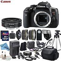 Canon EOS T6i Digital SLR Camera Body Bundle with EF 40mm f/2.8 STM Lens & eDigitalUSA Premium Kit - International Version