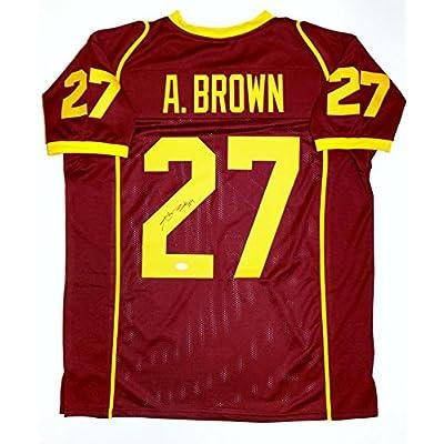 Antonio Brown College >> Antonio Brown Autographed Maroon College Style Jersey Jsa