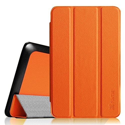 Fintie Dell Venue 7 Slim Shell Case - Ultra Slim Lightweight Stand Cover For Dell Venue 7 (2013) / New Venue 7 3000 Series (2014) 7-Inch Android Tablet, Orange