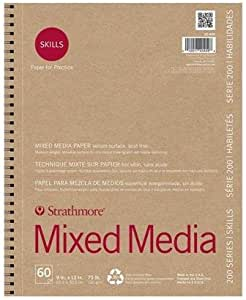 Strathmore STR-20-409 60 Sheet Skills Recycled Mixed Media Wire, 9 by 12""