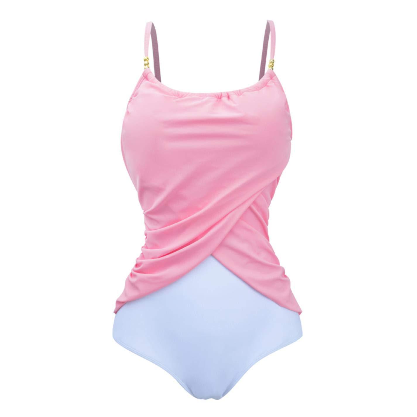 QVKis Women One Piece Swimsuit High Neck Plus Size Push up Swimwear