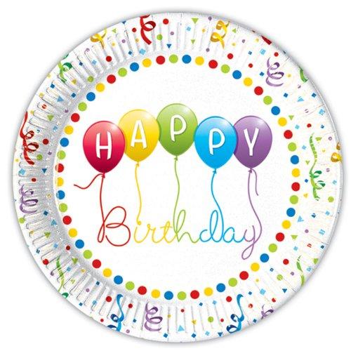 Partyteller 'Happy Birthday Streamer', 8 Stück