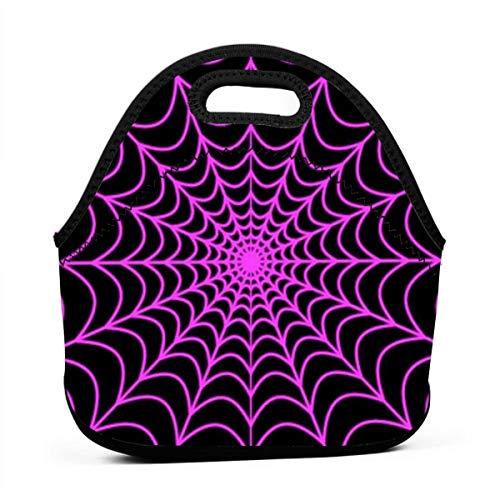Yoga Meal Bag Halloween Spider Web Super Soft Neoprene Lunch Bag]()