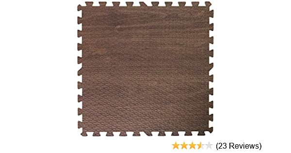 "Get Rung new soft dark walnut wood foam floor interlocking puzzle mat 3//8/"" eva"