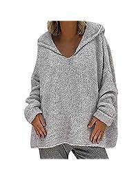 RedBrowm-women Jacket Casual Outwear Fashion Coat Outerwear Knitting Sweater