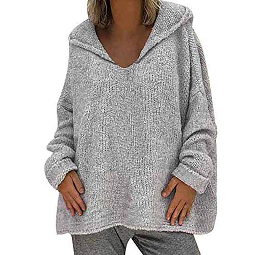 m donna grigio calda a grigio donna Pullover Camicie maniche da dragon868 Maglia lunghe da ampio 6YIO0f