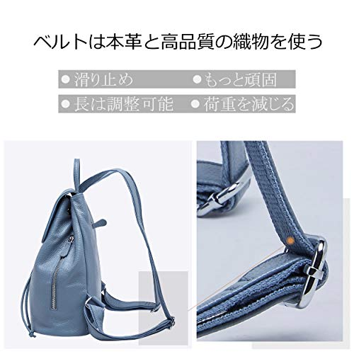 Shoulder School Blue for Elegant Genuine Leather BOYATU Travel Ladies Elegant Women Backpack Bag axF4fw
