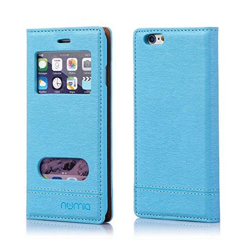 numia Handy Tasche Schutz Hülle Wallet Case Flip Cover Klapp Etui Schale Für Apple iPhone 7 Blau