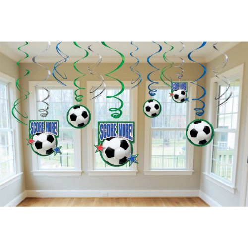 amscan Soccer Hanging Swirl Party Decorations]()