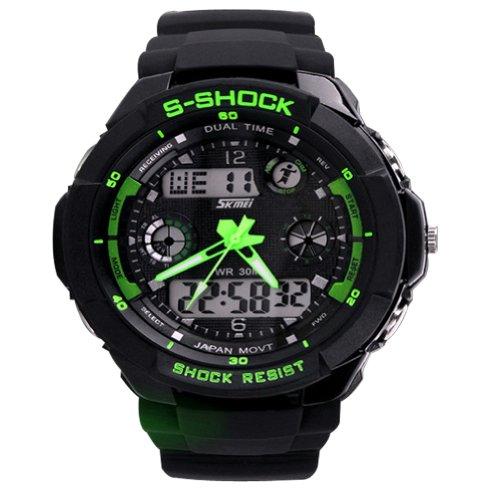 SKMEI S-Shock Sports Waterproof LED Digital Watch (Black) - 1