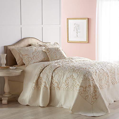 BrylaneHome Amelia Bedspread - Ivory, King