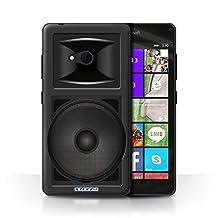 STUFF4 Phone Case / Cover for Microsoft Lumia 540 (Black/White) / Studio Monitor Design / Speaker Design Collection