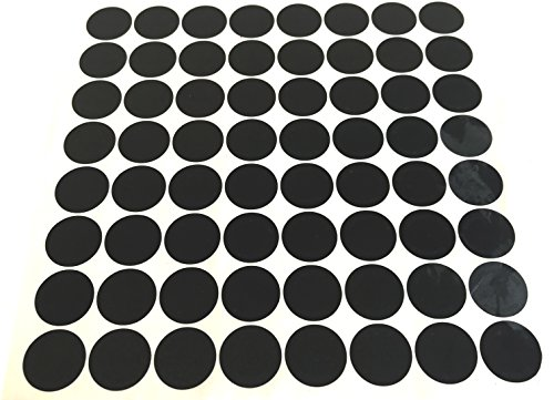 120 High Security Tamper Evident Warranty Round Metallic Black Labels/Security Stickers w/Unique Laser Sequential Serial Numbering Size: 0.625'' Diameter (16mm) by intertronix