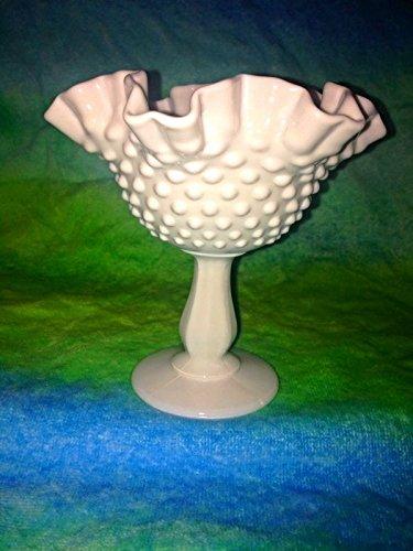 Fenton Tall Pedestal Bowl Hobnail Dish Circa (Hobnail Candy)