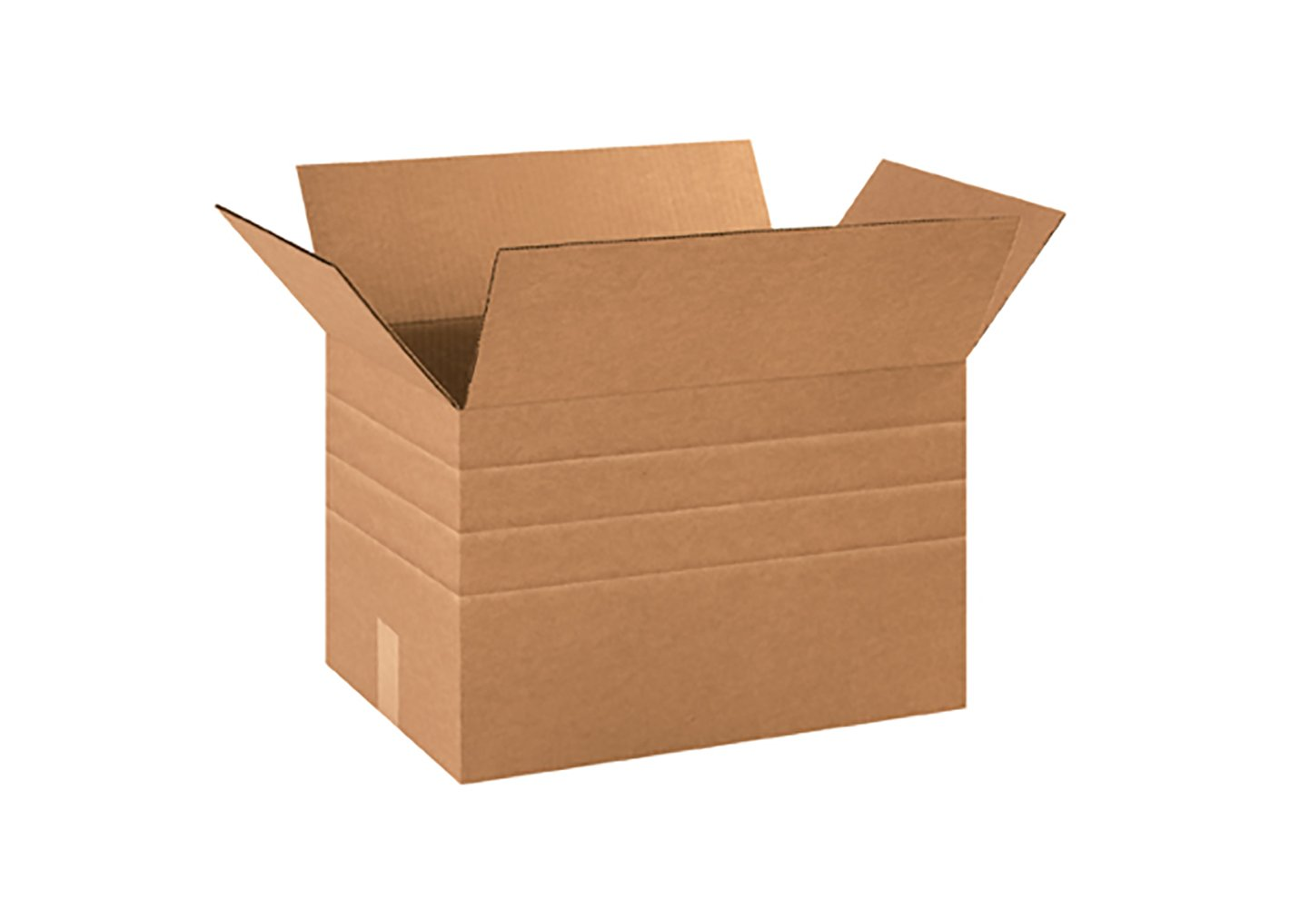 Brown RetailSource B181212MD25 Multi-Depth Corrugated Box Pack of 25 12 Height 18 Length 12 Width
