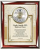 Personalized Nurse Poetry Gift Clock Picture Frame Parent or Friend Congratulation Nursing School Graduation Gift Custom Poem Wall Clock Plaque Retirement Graduates