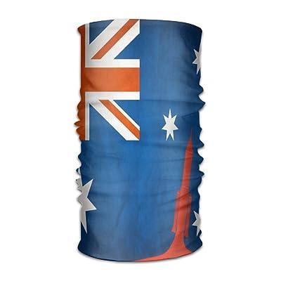 Jadetian Australia Flag Rocket Launch Men's Headwear Womens Bandanas Outdoor Headscarf Elastic Bandanas Handkerchief