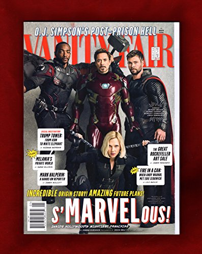 Vanity Fair Magazine  Holiday 2017 2018  Anthony Mackie  Robert Downey Jr   Scarlett Johansson  Chris Hemsworth Cover