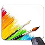 Mousepad Color Paint Brush Mouse Mat