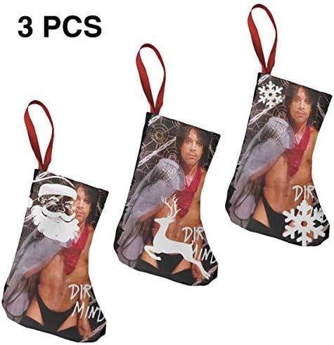 クリスマスの日の靴下 (ソックス3個)クリスマスデコレーションソックス Prince Drity Mind クリスマス、ハロウィン 家庭用、ショッピングモール用、お祝いの雰囲気を加える 人気を高める、販売、プロモーション、年次式