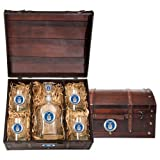 Air Force Wood Chest Set with Decanter and glasses