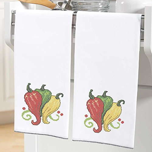 Herrschners® Some Like It Hot Towel Pair Stamped Cross-Stitch ()