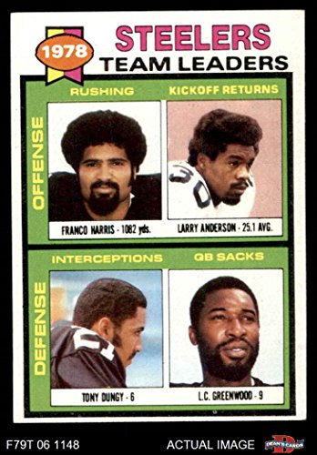 - 1979 Topps # 19 Steelers Leaders & Checklist Franco Harris/Larry Anderson/Tony Dungy/L.C. Greenwood Pittsburgh Steelers (Football Card) Dean's Cards 5 - EX Steelers