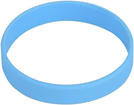 Blanco Pulsera De Silicona Pulseras de goma, azul celeste: Amazon.es: Deportes y aire libre